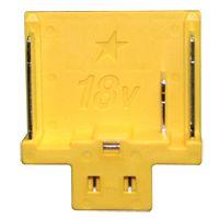 18 V accu aansluiting - geel, met ster