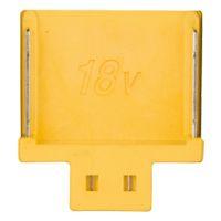 18 V accu aansluiting - geel, zonder ster