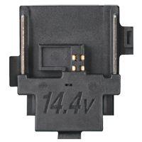 14,4 V accu aansluiting - zwart, met zwarte chip connector