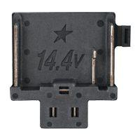 14,4 V accu aansluiting - zwart, met ster
